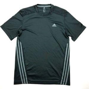 Adidas Climacool Black Crew Neck Mesh Running Top
